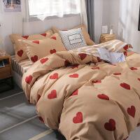 ins风床上用品四件套学生宿舍单人床3三件套卡通简约被套床单套装