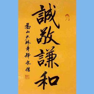 第九十十一十二届全国人大代表,少林寺方丈释永信(诚敬谦和)