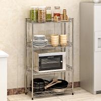 亚思特不锈钢厨房置物架 浴室卫生间角架 卧室落地层架 收纳架子Z654