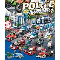 积木乐高拼装城市警察局飞机车小学生玩具6-8-10-12岁男孩子