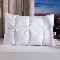 正品羽绒+鹅毛枕头五星级酒店枕芯单人双人枕头一只装 面包枕-白色