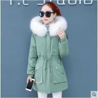冬季新款韩版宽松派克服棉衣棉袄外套潮中长款羽绒棉服女装