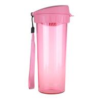 特百惠茶韵随心水杯子500ml塑料防漏便携运动茶杯柔蜜粉
