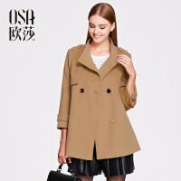OSA欧莎冬季新品女装长袖立领毛呢外套女士大衣SD522005