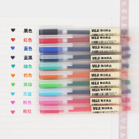 无印良品文具Muji 多色防逆流凝胶墨水笔�ㄠ�笔中性笔