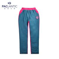 派克兰帝品牌童装 冬装男童女童加厚拼色儿童棉裤长裤