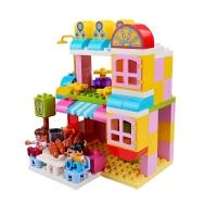 大号颗粒益智拼搭积木塑料男女孩玩具宝宝3-6周岁拼插装玩具 +大底板