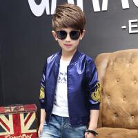 童装男童皮衣外套2017新款加绒中大童韩版儿童男孩秋装加厚夹克
