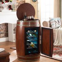 红酒柜恒温酒柜实木电子茶叶保鲜冷藏柜小型冰吧冰箱酒桶柜子家用