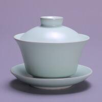 【家装节 夏季狂欢】汝窑三才盖碗开片茶杯茶碗家用大号功夫茶具陶瓷泡茶手抓壶