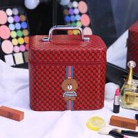 化妆包大容量多功能简约便携护肤品收纳盒网红可爱多层化妆箱手提