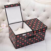 覆膜箱收纳盒衣物棉被整理箱覆膜有盖箱无纺布有盖收纳箱 衣服棉被收纳储物整理箱 --莓