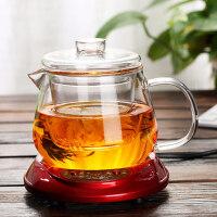 茶壶压嘴内胆 带盖耐热玻璃凉水壶 豆浆壶 果汁壶办公室花茶杯杯子带盖过滤男女士家用泡茶水杯450ML