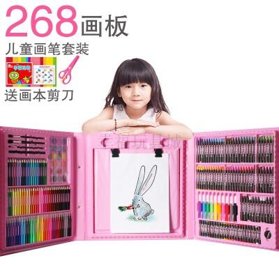 全套画笔画架儿童绘画套装文具礼盒彩笔彩铅美术用品画画工具