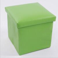 PU皮收纳凳 储物凳 换鞋凳 收纳箱 绿色