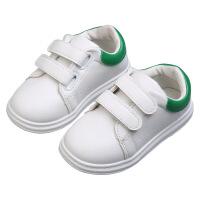 儿童二棉鞋男童板鞋1-3-4-5岁女童小白鞋运动防滑鞋 绿色 单款