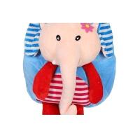1-3岁玩具儿童书包 毛绒书包 婴儿小孩男 女宝宝可爱迷你双肩背包世帆家SN8636 大象蓝色 适合1-2岁