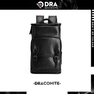 DRACONITE街头潮流大容量旅行防水pvc皮双肩包男女背包书包