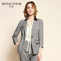 商场同款-诗篇2017秋季新品 轻商务条纹修身西装外套