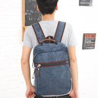 吉野新款韩版男包包帆布包双肩包潮流男士背包高中大学生书包电脑背包休闲学院旅行包230