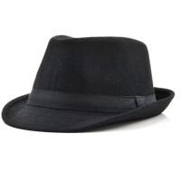 男士爵士帽礼帽男户外休闲英伦复古绅士帽中老年毛呢帽