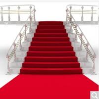 红地毯婚庆迎宾地毯整卷展会满铺红地毯店面开张庆典红地毯一次性地毯
