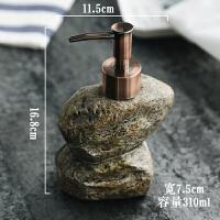 创意陶瓷复古石头洗发水洗手液沐浴液露分装皂液器乳液瓶乳液瓶