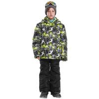 男童保暖冲锋衣裤儿童滑雪服套装