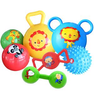 【当当自营】费雪0-3岁宝宝卡通动物认知早教训练球手抓摇铃球套装F0920