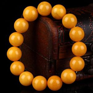 蜜蜡满蜡无伤无裂无杂圆珠手串 直径14mm