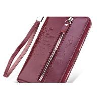 女式钱包女长款双拉链韩版女士皮夹大容量粉色手拿包世帆家SN6027 602单拉气质紫色