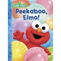 英文原版 芝麻街:躲猫猫游戏书 Peekaboo, Elmo! (Sesame Street)