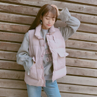 秋冬女装新款韩版显瘦百搭棉衣马甲背心短款无袖学生马夹外套