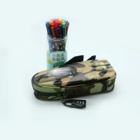 战斗机文具笔袋硬面 密码锁迷彩个性文具盒