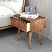 实木床头柜北欧家具储物柜卧室家具床边收纳柜边几柜 整装