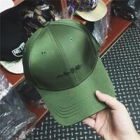 2018新款原谅帽韩版帽子女个性棉军绿色棒球帽字母刺绣鸭舌帽潮男士 可调节