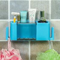 洗漱套�b多功能牙刷牙膏收�{架粘�N式多功能牙膏牙刷架浴室洗漱用品�l生�g收�{架盒