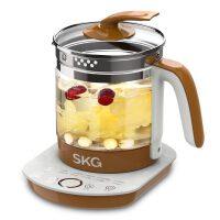 SKG 8056家用玻璃电热水壶全自动保温煮茶壶304不锈钢养生壶1.5L 12大功能 烧水煮茶 药膳甜品 定时预约