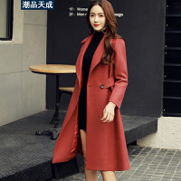 毛呢大衣2017秋冬装新款女外套韩版时尚修身显瘦中长款款风衣
