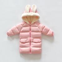 女童棉衣中长款2017新款宝宝棉袄1-3岁婴儿外套加厚儿童羽绒服2