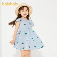 巴拉巴拉童装女童裙子儿童夏季小童宝宝连衣裙田园风洋气