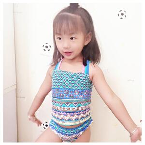 弈姿EZI 儿童女童温泉游泳衣 新款分体比基尼 3-13岁 917077