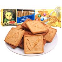 俄罗斯进口 爱莲巧大头娃娃牛奶 维生素饼干190g/包休闲零食糕点