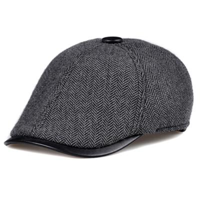 帽子男士秋冬季休闲户外保暖中年人棒球帽男帽子