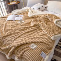 君别双层毛毯被子加厚冬季午睡毯珊瑚绒单人小毯子法兰绒床单学生宿舍