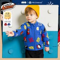 DC超人IP迷你巴拉巴拉男宝宝外套2020冬婴儿便服可爱保暖外套拜年服