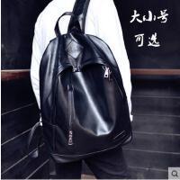 新款韩版女双肩包男包休闲学生书包旅行包pu皮电脑包潮男士小背包