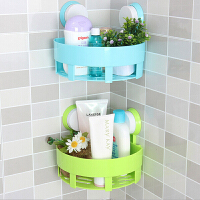 卫生间转角强力真空浴室吸盘转角免订无痕三角置物架