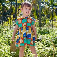 迷你巴拉巴拉婴儿连衣裙2021夏装女童宝宝纯棉衬衫洋气韩版公主裙