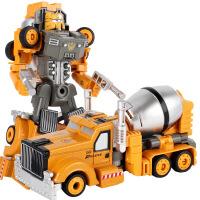 合金变形金刚机器人模型儿童玩具礼盒套装工搅拌车男孩玩具车